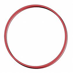 Gummiringe Gummibänder Ø  80mm, 1mm in rot, ca.  80 Stk., 50 gr.
