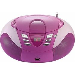 4 Stück Lenco UKW-Radio m.CD tragbar SCD-37 USB pink
