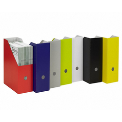 progressFILE ZEITSCHRIFTENSAMMLER Zeitschriftenbox 105mm breit, rot