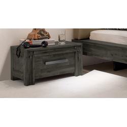 Schubladen-Nachttisch Akazie grau im Industrial Style - Caldera