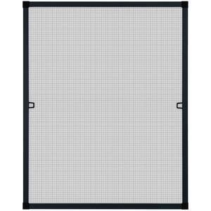 Fliegengitter Insektenschutz Fenster Alu Rahmen Bausatz 80 x 100 cm anthrazit