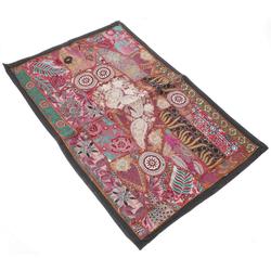 Wandteppich Indischer Wandteppich Patchwork.., Guru-Shop, Höhe 65 mm 95 cm x 65 mm