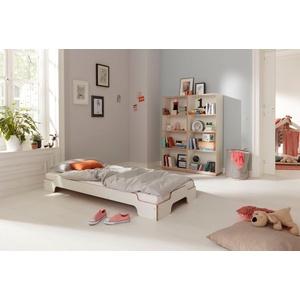 Müller SMALL LIVING Stapelbett STAPELLIEGE Komfort (eine Liege), Gestell: Komforthöhe 27.5 cm, ausgezeichnet mit dem German Design Award - 2019 weiß 93 cm x 193 cm x 27,5 cm