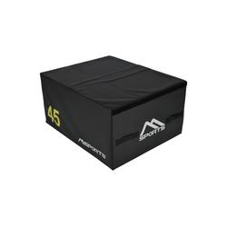 MSports® Kurzhantel Plyo Box Professional 3-teilig Jump Box Set • Plyo Box • Sprungbox • plyometrisches Training schwarz