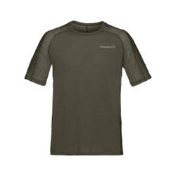 Norrona - Bitihorn Wool T-Shirt M Olive Night - T-Shirts - Größe: M