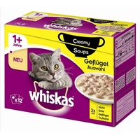 whiskas Creamy Soups Geflügelauswahl 4 x 12 x 85 g