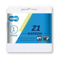 KMC Fahrradkette Kette KMC Z1 Narrow EPT für Nabensch. 1/2 x 3/32',