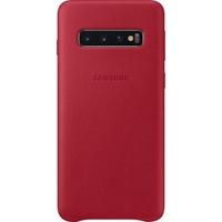 Samsung Leather Cover EF-VG973 für Galaxy S10 rot