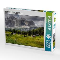 Sella Meisules - Gröden Dolomiten Lege-Größe 64 x 48 cm Foto-Puzzle Bild von uwe vahle Puzzle