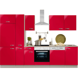 OPTIFIT Küchenzeile Faro, ohne E-Geräte, Breite 300 cm rot