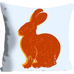 Kissenhülle Lindt, queence (1 Stück), mit einem orangenen Hasen