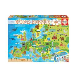 Educa Puzzle Puzzle Europa Karte, 150 Teile, Puzzleteile