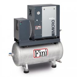 FINI Schraubenkompressor MICRO SE 4.0-10-200 K (IE3), mit 200 L. Kessel, Liefermenge 485 L/min.. Schalldruckpegel 60 dB(A)