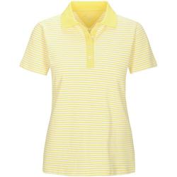 In Linea Firenze Poloshirt Piqué-Poloshirt mit Streifen gelb 40