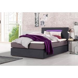 Collection AB Boxspringbett inkl. LED-Beleuchtung und Topper, 90/200cm, Härtegrad 2, FSC®-zertifiziert, COLLECTION AB