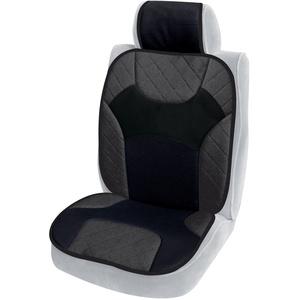 Cora 000127412 Jeans Tuning Auto-Sitzauflage aus Baumwolle, Grau/Schwarz