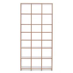 Regalsystem Mocoba Premium Mocoba weiß, Designer Klaus Kiefer, 227x107x32 cm
