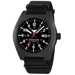 KHS Inceptor Black Steel Armbanduhr nato black