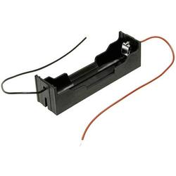 MPD BH-18650-W Batteriehalter 1x 18650 Kabel (L x B x H) 78 x 21 x 21mm