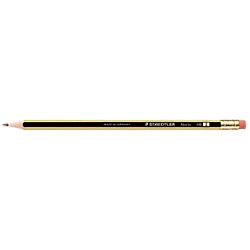 STAEDTLER Bleistift mit Radiergummi Noris 122 HB