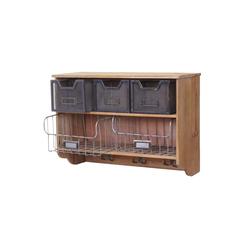 MCW Küchenregal MCW-A43-K, Shabby-Look, 3 Haken, 3 kleine und 2 große Schubladen