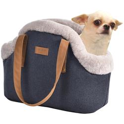 HEIM Tiertransporttasche, BxTxH: 43x20x34 cm blau Hundetransport Hund Tierbedarf Tiertransporttasche