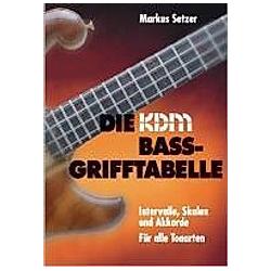 Die KDM Bass-Grifftabelle. Markus Setzer  - Buch