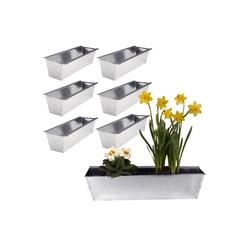 BigDean Blumenkasten 6er Set Pflanzkasten für Europalette − aus Metall verzinkt (6 Stück)