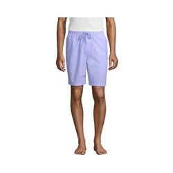 Pyjama-Shorts aus Baumwolltuch, Herren, Größe: M Normal, Blau, by Lands' End, Polarlicht - M - Polarlicht