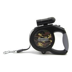 kueatily Hundeleine Hundeleine, einziehbare Hundeleine, Lauftrainingsleine mit abnehmbarer Taschenlampe