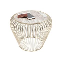 KARE Beistelltisch Beistelltisch Beam Grau Marmor 43cm
