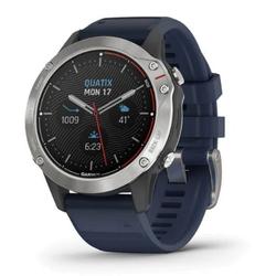 quatix 6 Grau mit mittelblauem Armband