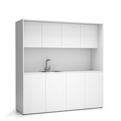 Büroküche nika mit waschbecken und wasserhahn 1963 x 600 x 2000 mm,