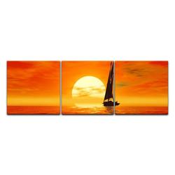 Bilderdepot24 Leinwandbild, Leinwandbild - Segelboot 180 cm x 60 cm