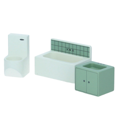 sebra Badezimmer für Puppenhaus Möbel Badewanne Waschtisch Toilette