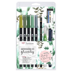 Tombow ABT Greenery Brush-Pen-Set farbsortiert