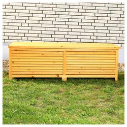 Mucola Auflagenbox Kissenbox Gartentruhe Gartenbox Auflagentruhe, mit Deckel braun