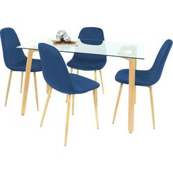 Essgruppe, (Set, 5-tlg) blau