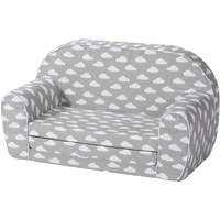 KNORRTOYS Kindersofa Grey white clouds