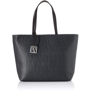 Armani Exchange Damen Liz - Open Medium Shopping Tote, Schwarz (Nero - Black), 28x11x40 cm