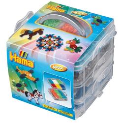 HAMA Aufbewahrungsbox klein mit 6.000 Perlen und 3 Stiftplatten 6701