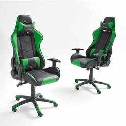 Schreibtischstuhl in Grün Schwarz ergonomisch