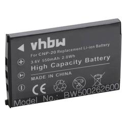 vhbw Li-Ion Akku 550mAh (3.6V) passend für Kamera Casio Exilim Z3, Exilim Z4, Exilim Z5 wie NP-20.