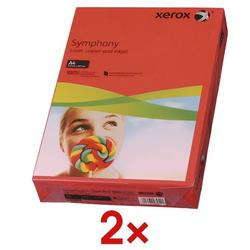 2x Farbiges Papier »Symphony« rot, Xerox