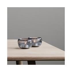 Stelton Kerzenhalter Teelichthalter ORA 2er-Set, rauchgrau