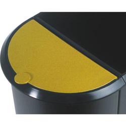Deckel für Duo-Papierkorb gelb