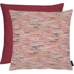 APELT Dekokissen Tweed rot 45 cm x 45 cm x 5 cm