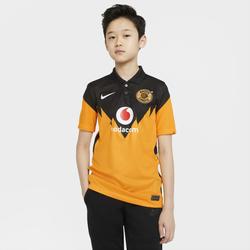 Kaizer Chiefs F.C. 2020/21 Stadium Home Fußballtrikot für ältere Kinder - Gelb, size: S