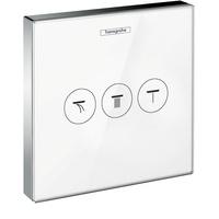 HANSGROHE ShowerSelect Glas Unterputz 3 Verbraucher weiß/chrom