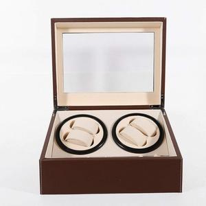 Kaibrite Automatischer Uhrenbeweger Uhrenbox Uhrenkasten 4+6 Uhren Watchwinder Box Watch Winder für Uhren Uhrenvitrine Uhrenbox Automatische Uhrenbeweger Laufleise Elegantes Design